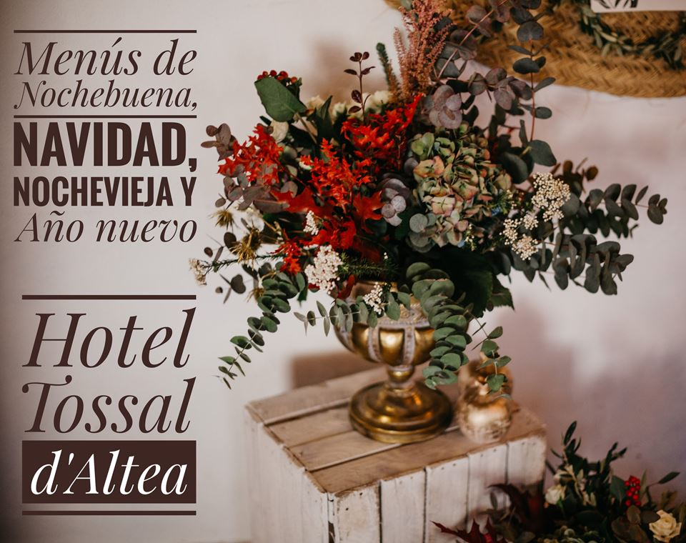 menus christmas new year hotel tossal altea home