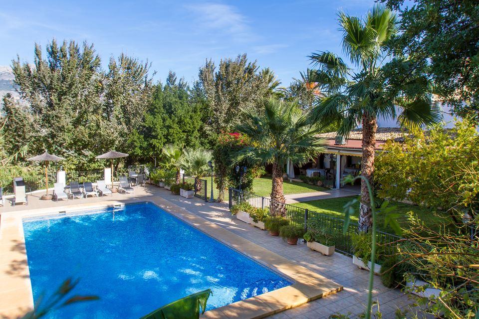 home inicio hotel tossal altea pool garden piscina