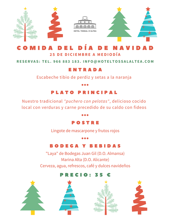 COMIDA DE NAVIDAD 2019 HOTEL TOSSAL D'ALTEA