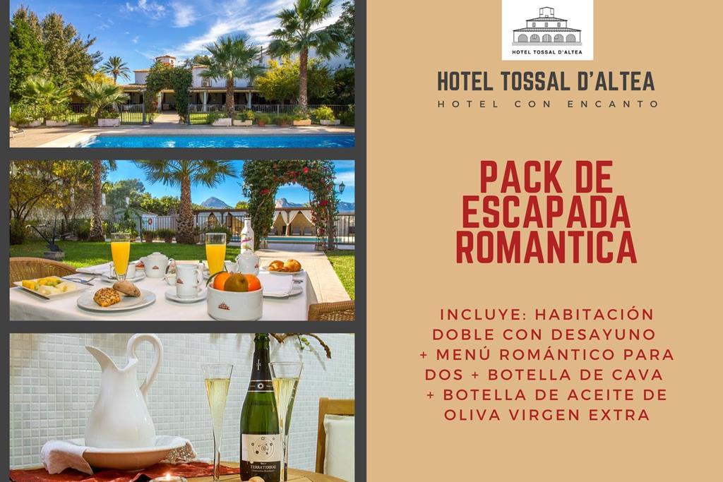 pack escapada romantica regalo hotel tossal d'altea ofertas paquetes