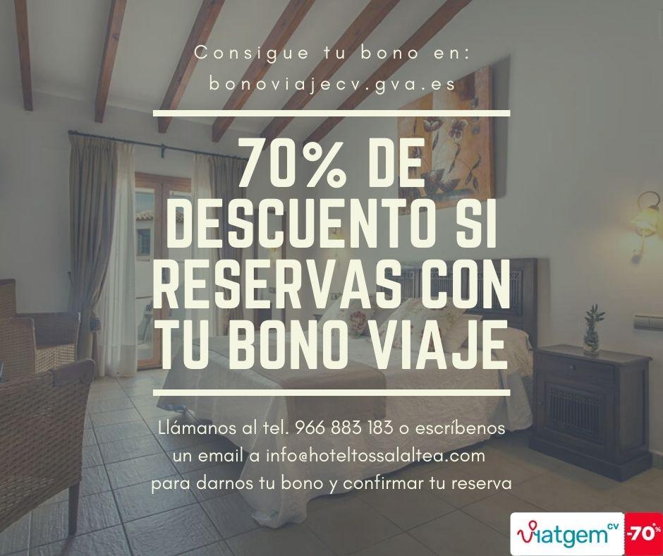 Bono Viaje: Descuento del 70% si reservas canjeando tu Bono con nosotros