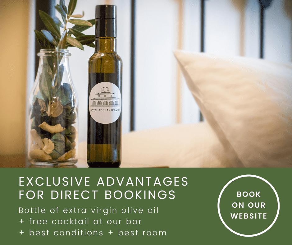 Advantages direct bookins Hotel Tossal Altea